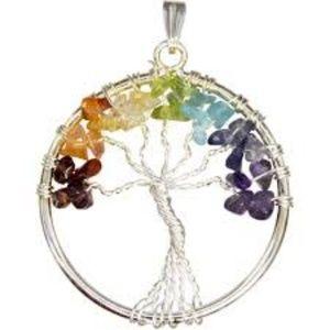 Chakras Tree of Life Pendant NWT